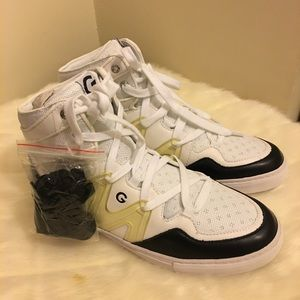 Guess White Hightop Sneakers (Never Worn)
